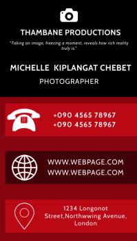 PHOTOGRAPHER BUSINESS CARD Tarjeta de Presentación template