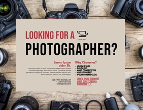Photographer Service Flyer Design Template