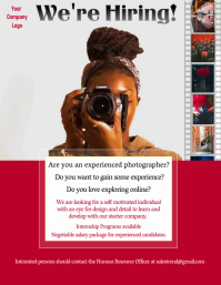 Photographer Vacancy Ad