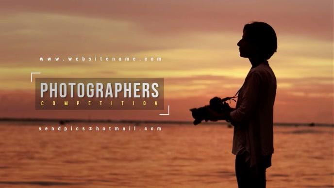 Photographers Event Video Видеообложка профиля Facebook (16:9) template