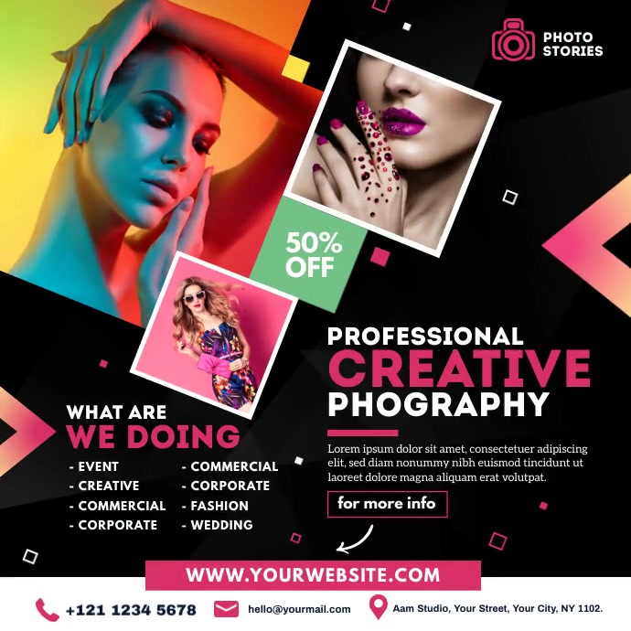 Photography Ad Pos Instagram template