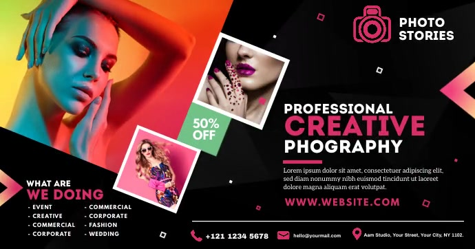 Photography Ad Facebook Shared Image template
