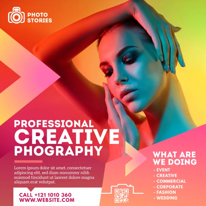 Photography Ad Instagram Post template