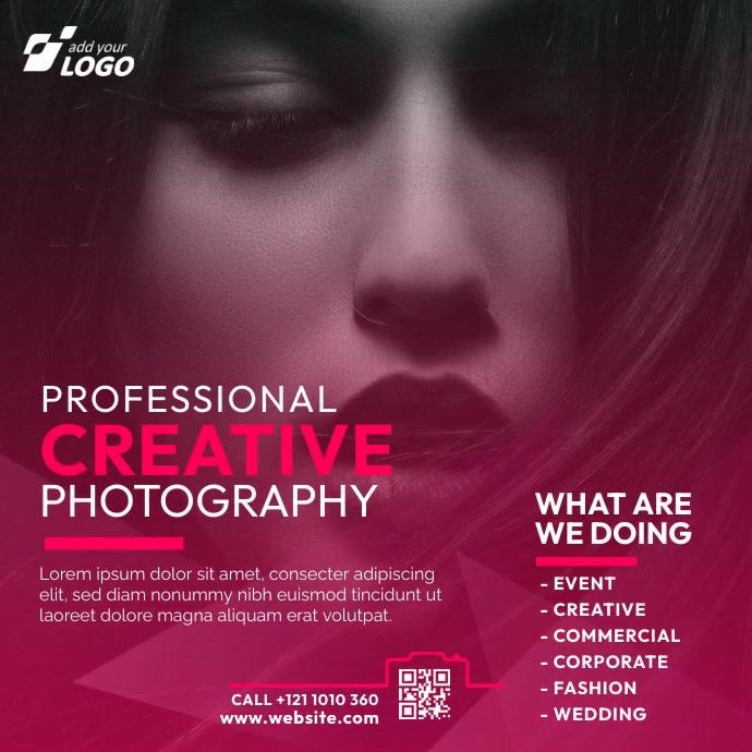 Photography Ad Сообщение Instagram template