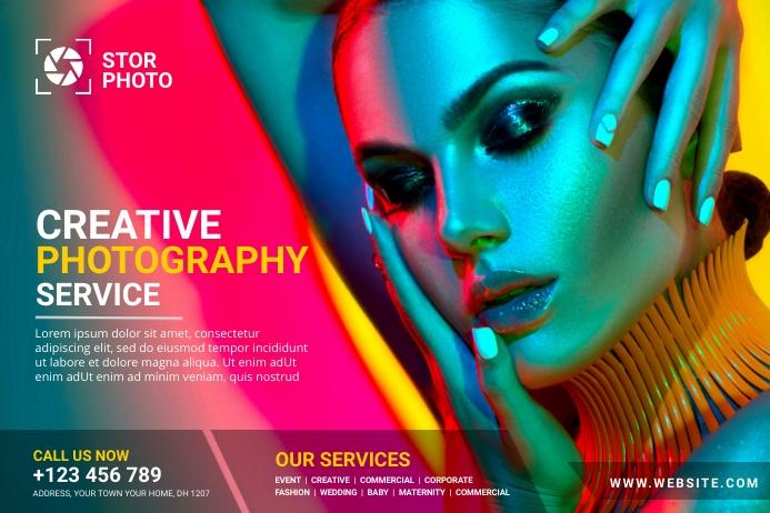 Photography Ad Template Cartel de 4 × 6 pulg.