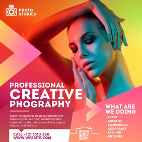 Photography Ad Template Сообщение Instagram