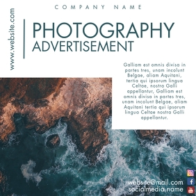 photography advertisement instagram post adve template