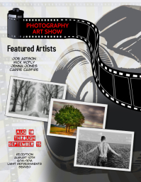 Photography Art Exhibit Flyer Template