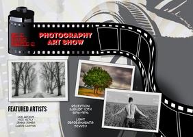 Photography Art Exhibit postcard Template Открытка