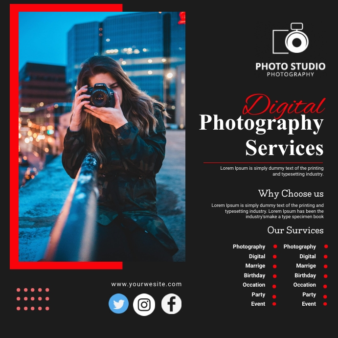 Photography Banner Instagram Post template