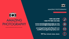 PHOTOGRAPHY BUSINESS CARD DESIGN Kartu Bisnis template