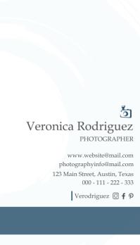 photography business card design template Kartu Bisnis