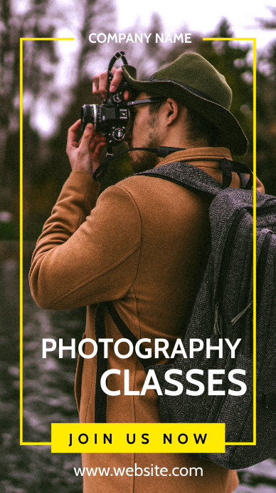 Photography classes advertisement Instagram Story template