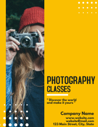 Photography classes flyer template