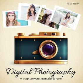 photography COMPANY LOGO DESIGN Template Quadrato (1:1)