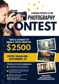 Photography Contest Flyer A4 template