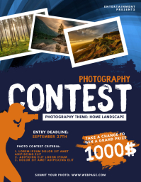 Photography Contest Flyer Template Volante (Carta US)