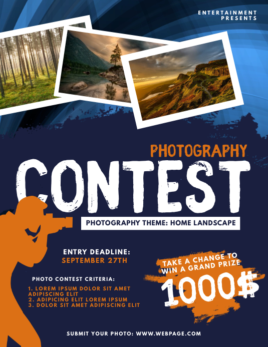 Photography Contest Flyer Template Løbeseddel (US Letter)
