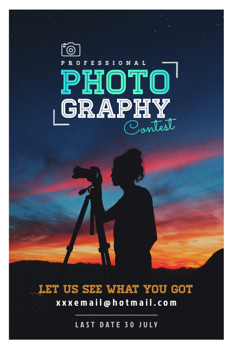 Photography Contest Poster Плакат template