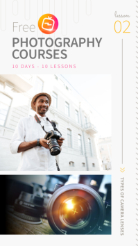 Photography Course IGTV Image История на Instagram template