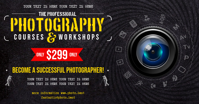 PHOTOGRAPHY COURSES BANNER