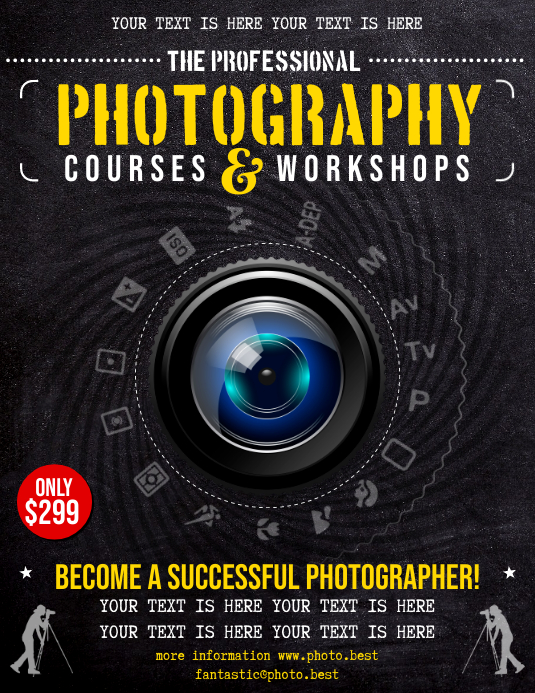 PHOTOGRAPHY COURSES FLYER