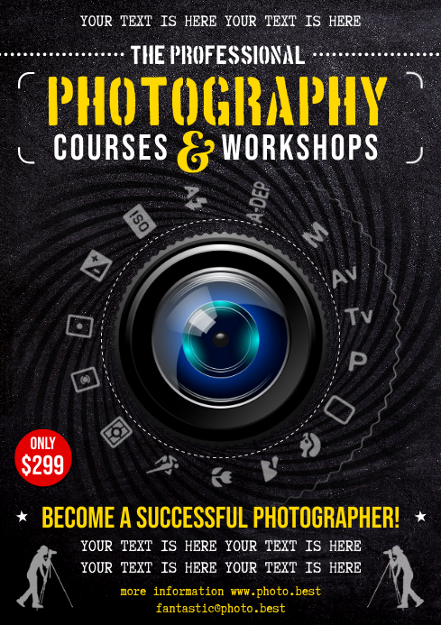 PHOTOGRAPHY COURSES POSTER