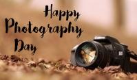 Photography day Etiqueta template