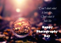 Photography day 明信片 template