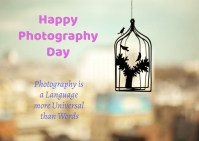 Photography day Postcard template