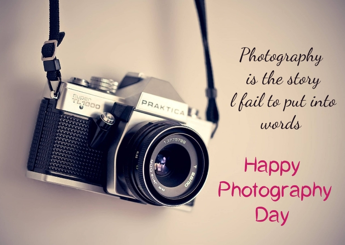 Photography day Postal template