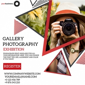 PHOTOGRAPHY EXHIBITION FLYER Template Square (1:1)