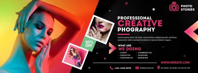 Photography Facebook Cover template