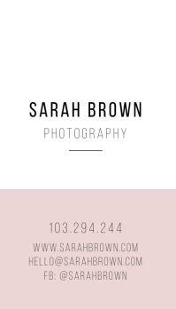 photography fashion Business card 名片 template