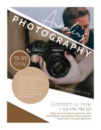 photography flyer advertisement Volante (Carta US) template