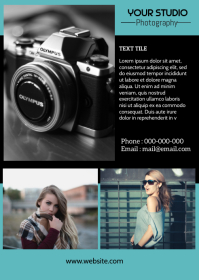 Photography flyer A6 template