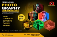 Photography Flyer Etiket template