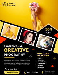 Photography Flyer Folheto (US Letter) template