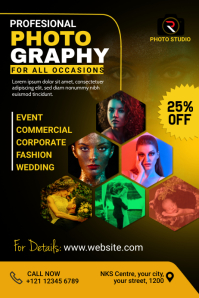 Photography Flyer Banner 4' × 6' template