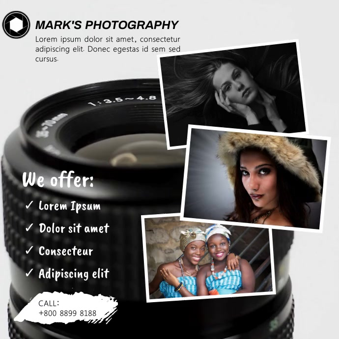 PHOTOGRAPHY FLYER Instagram Post template