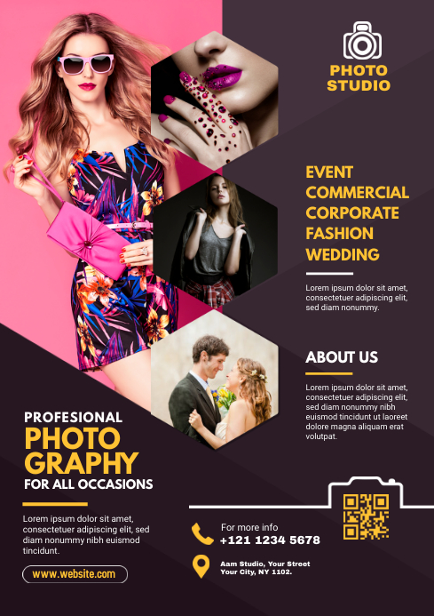 Photography Flyer A4 template