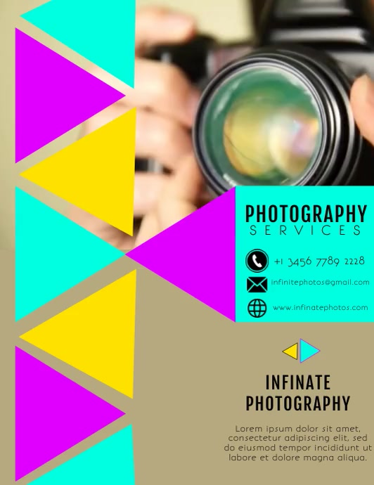 PHOTOGRAPHY FLYER TEMPLATE Pamflet (Letter AS)
