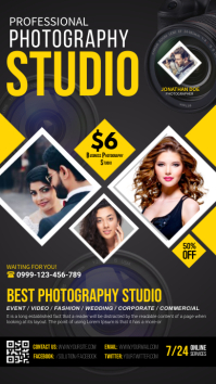 photography flyer template Instagram Story
