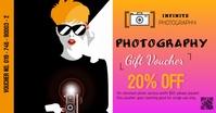 Photography gift voucher-nash Gedeelde afbeelding op Facebook template