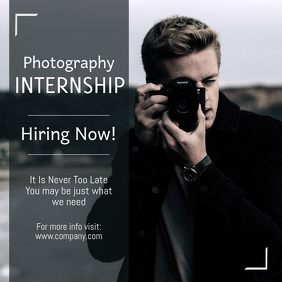 Photography Internship Instagram Template