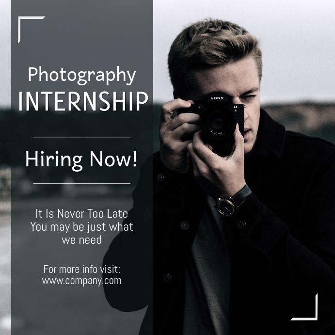 Photography Internship Instagram Template