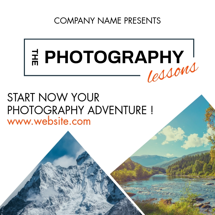 photography lessons classes advertisement Instagram Post template