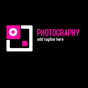 Photography logo purple and black