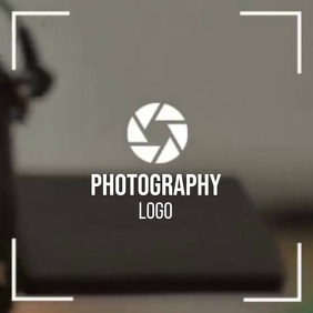 PHOTOGRAPHY logo SOCIAL MEDIA TEMPLATE