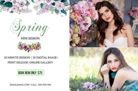 Spring Photography Mini Session Etiqueta template